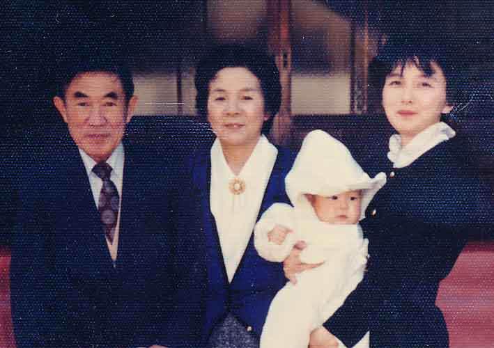 祖父母と安江のぶお