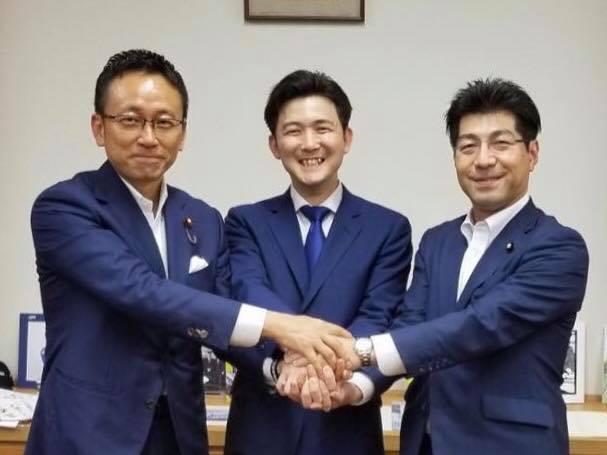 伊藤渉・公明党愛知県代表、安江のぶお、里見隆治参議院議員