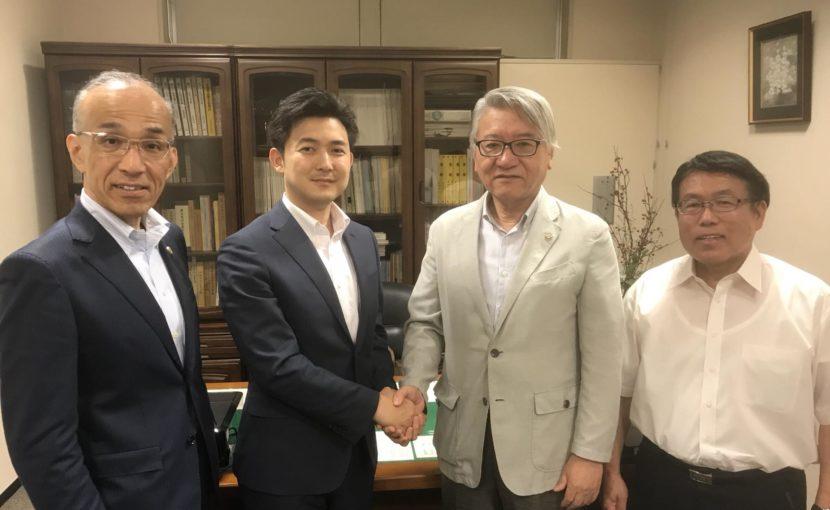 日本司法書士政治連盟愛知会の船橋会長、小塚幹事長