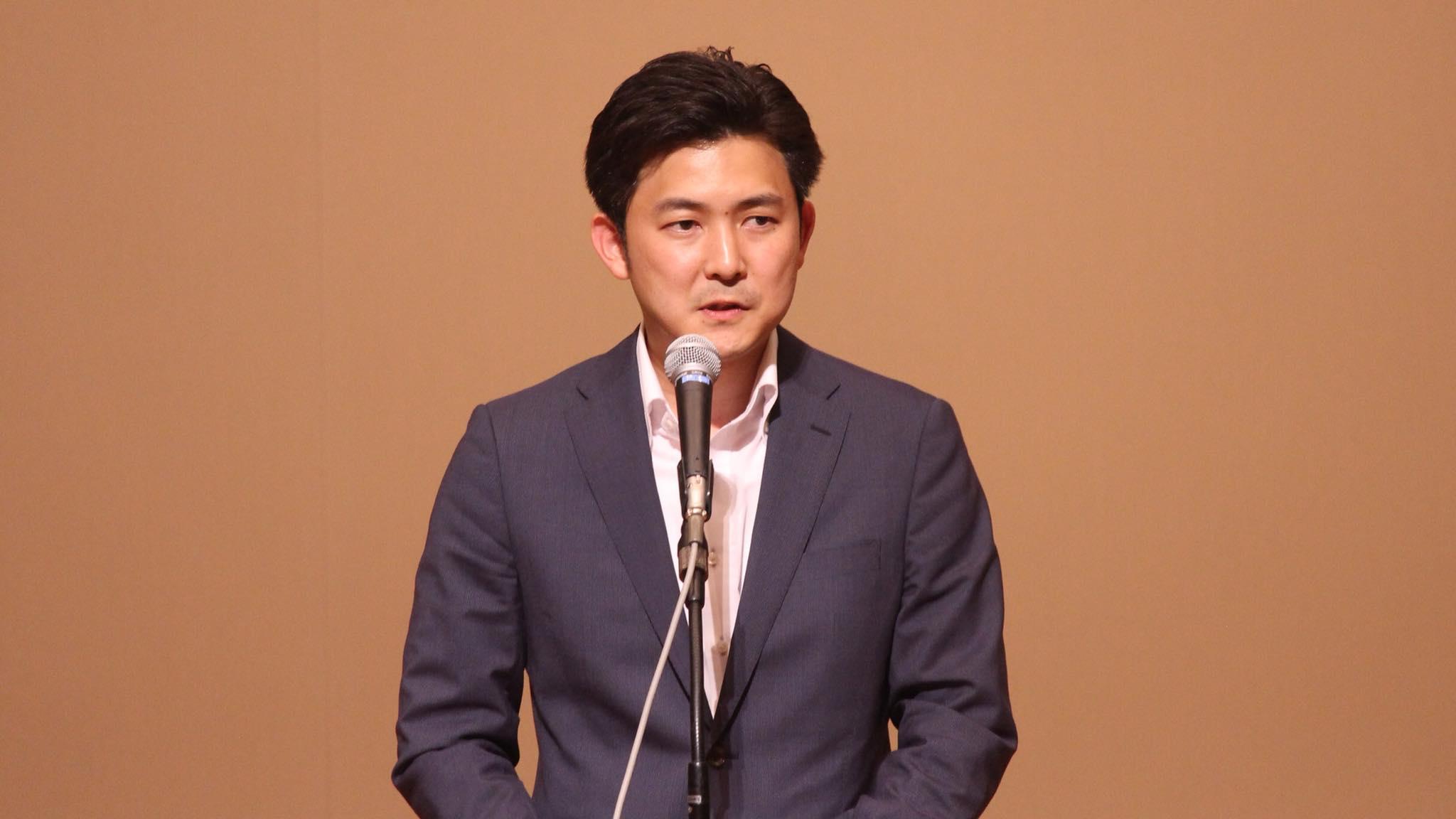 生まれ故郷の名古屋市北区での、党の支部会でご挨拶