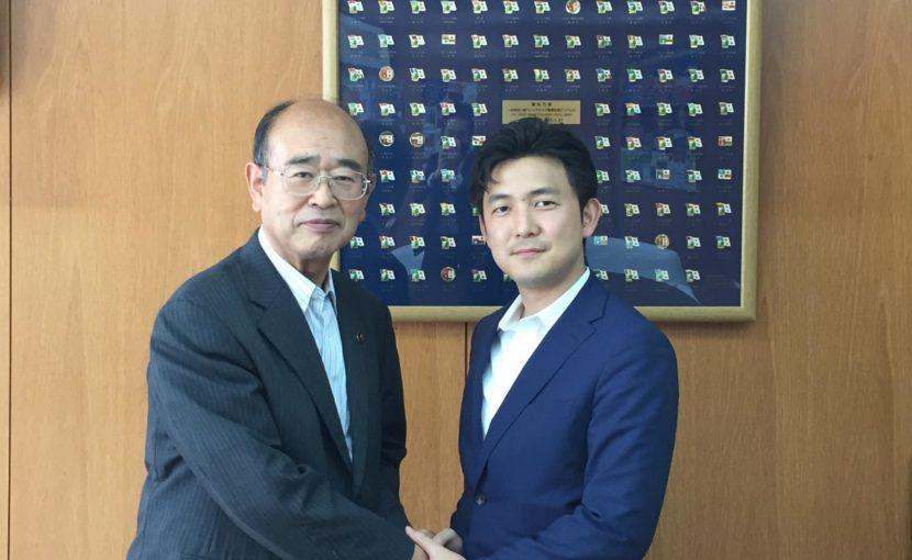 宮島知多市長にご挨拶