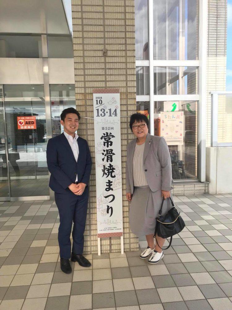 愛知県の常滑市、武豊町を回りました