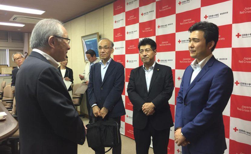 「平成30年7月豪雨被災者救援募金」を日本赤十字社にお届けさせていただきました