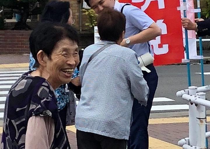 名古屋市中村区の街頭にてご挨拶