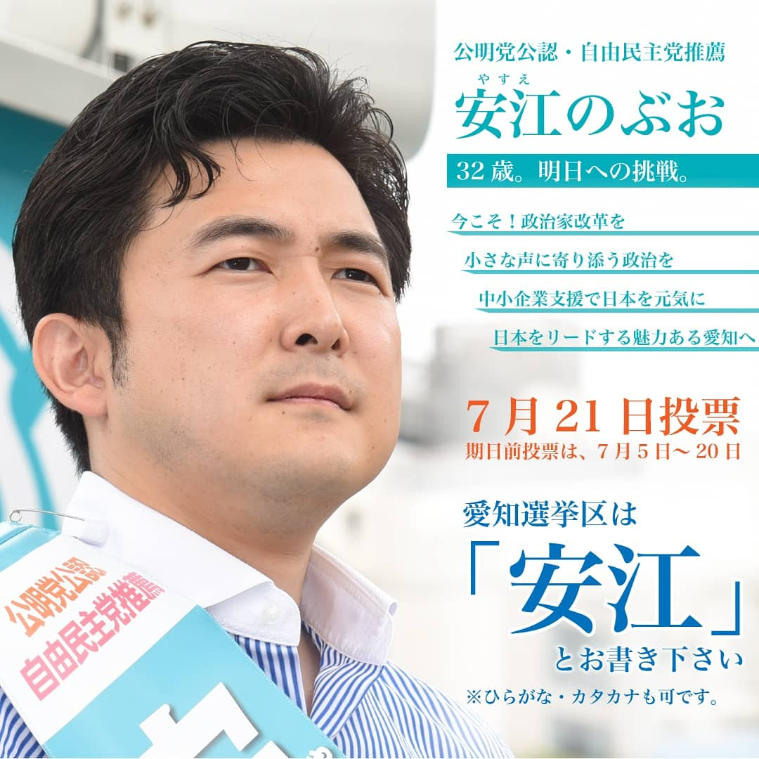 愛知選挙区は「安江」