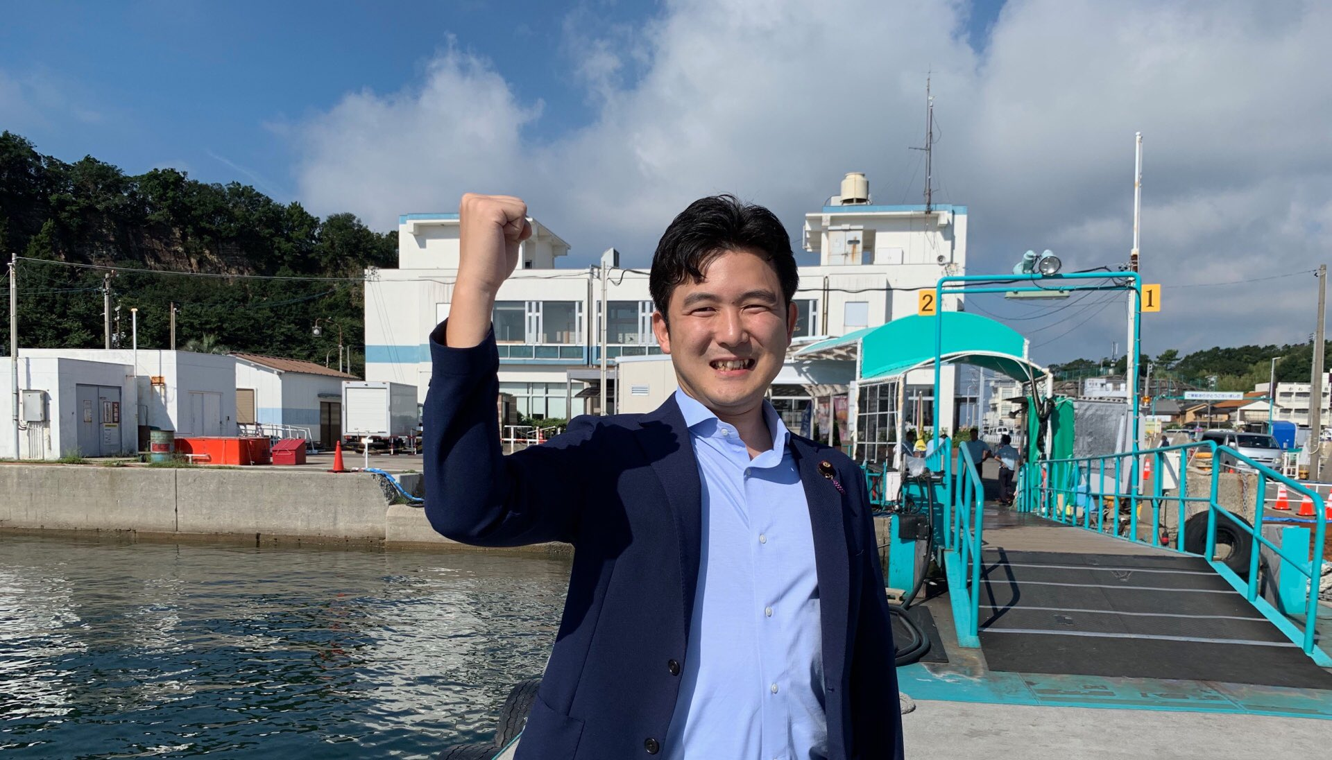 篠島、日間賀島の皆さんにご挨拶