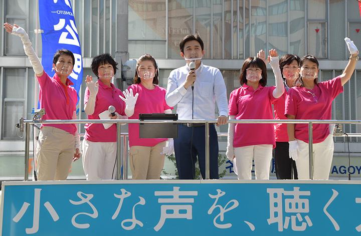 DV、養育費不払い防ぐ/安江氏、愛知女性局街頭で訴え