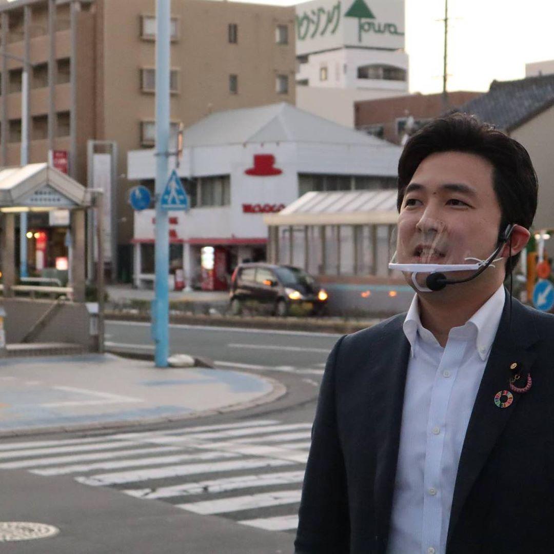 豊橋駅前で街頭演説