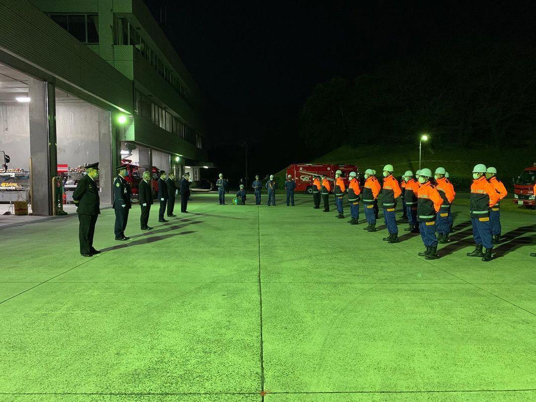 知多市消防団年末夜警