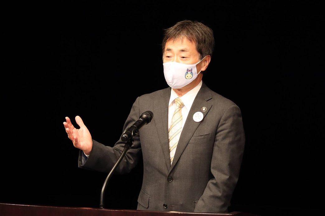 林郁夫知立市長・ちりゅっぴのマスク