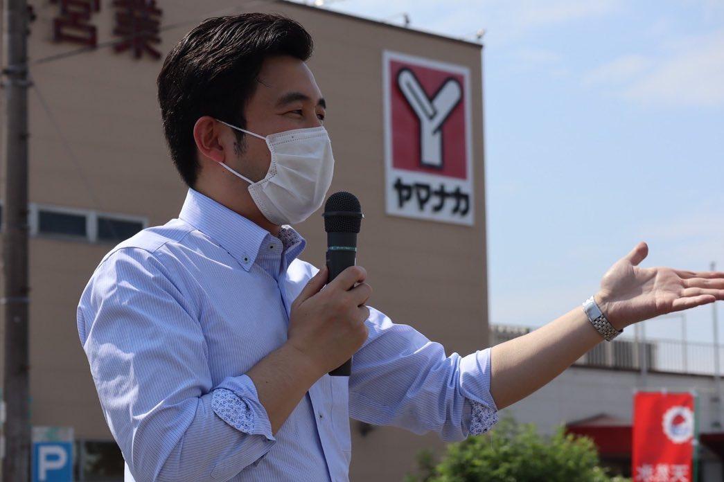 知多市で街頭演説