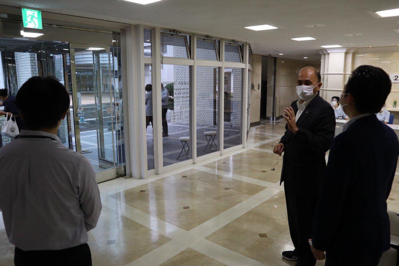 豊橋市内のワクチン接種会場を視察