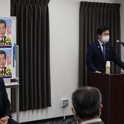 愛知5区は神田けんじ候補の個人演説会でご挨拶