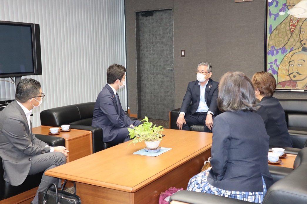 清須市の永田純夫市長を訪問