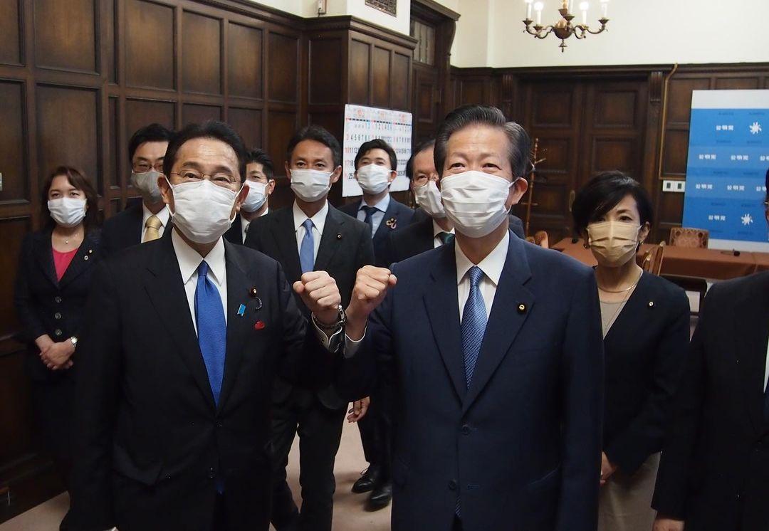岸田文雄新総理が公明党にもご挨拶